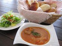 スープとパンのセット
